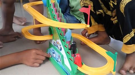 Roller Mainan Anak roller coster jolly penguin unboxing mainan anak quot roller