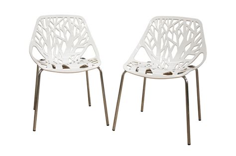 white plastic chairs bulk birch sapling white plastic accent dining chair set of