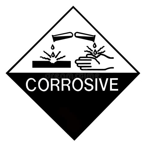 printable corrosive label corrosive chemical label stock photo image of black