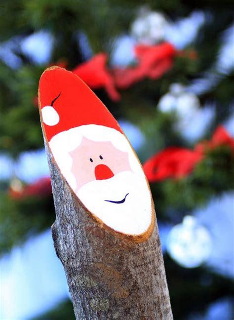 Weihnachtsmann Aus Baumstamm by Traditional Bavarian Decoration Large