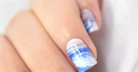 tutorial nail art giornale tidal wave marble video tutorial marine loves polish