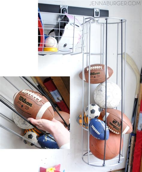 Garage Storage For Balls Getting Organized In The Garage Ideas For Organization