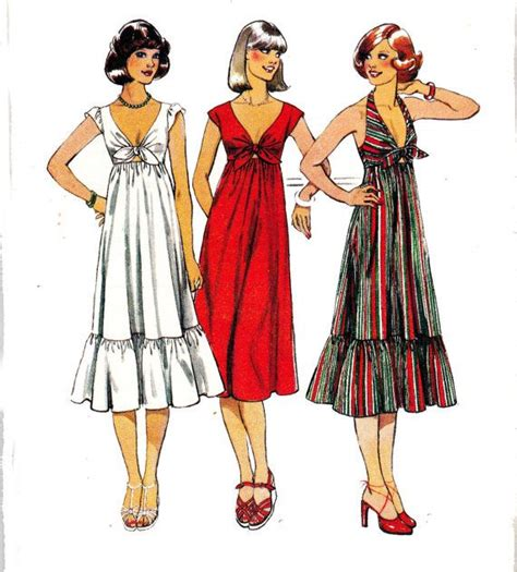 7 Tips For Identifying Vintage Clothing by 1970s Vintage Sewing Pattern Style 1944 Boho Tie Front