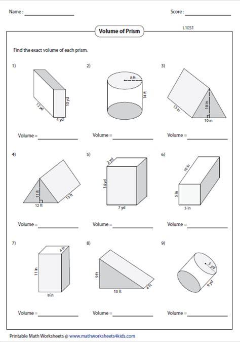 Volume Rectangular Prism Worksheet by Volume Worksheets
