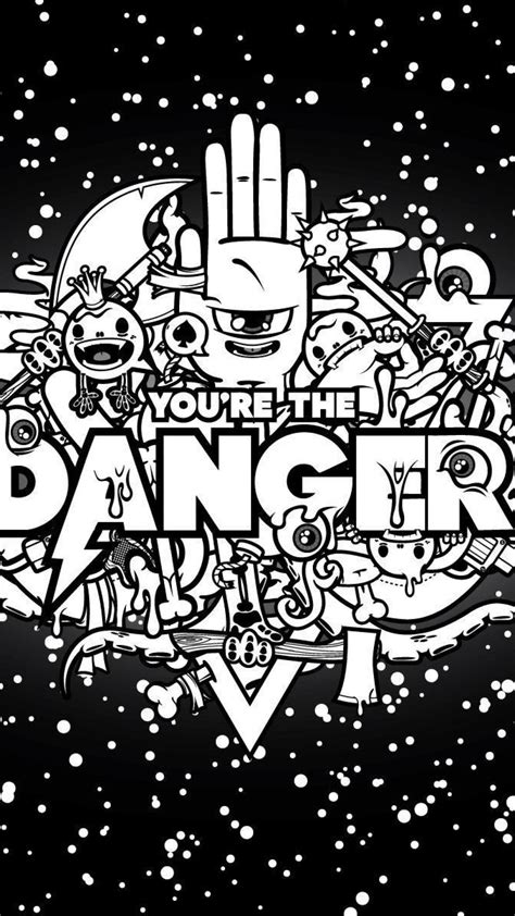 abstraction danger black stars sky iphone  wallpapers