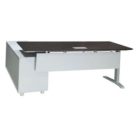 Lifting Desk by Denmark Lifting Manager Desk Right Return American Walnut