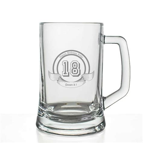 Personalised Pint Glass   18th Birthday Gift