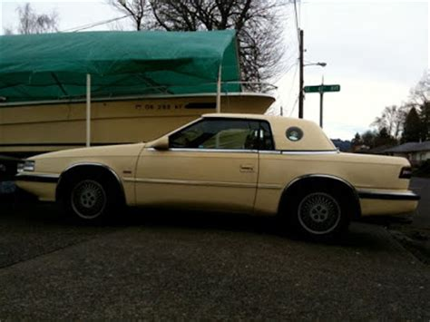 maserati hardtop convertible old parked cars 1989 chrysler tc by maserati hardtop