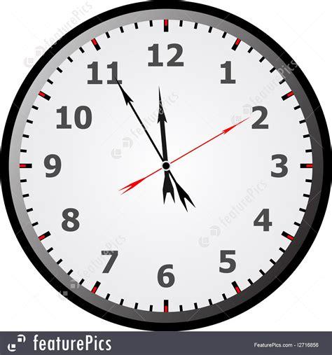 clock  minutes  twelve illustration