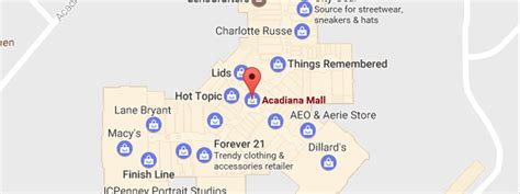 layout of fayette mall acadiana mall map my blog