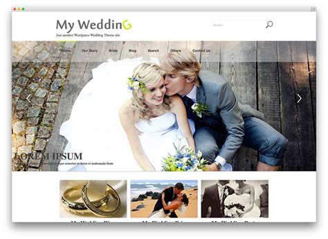 Site Wedding by 8 Beautiful And Free Wedding Themes Beau Magazine