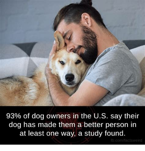 93 of dog owners in the us their dog has made them a