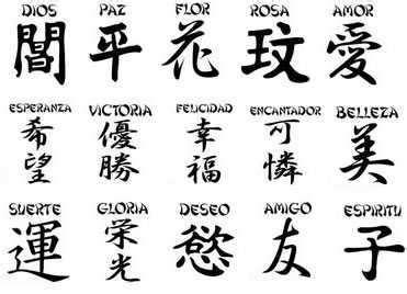 imagenes letras japonesas significado significados ideogramas japoneses