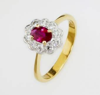 Ruby 10 65ct beautiful 0 65ct ruby set with 10 brilliant cut diamonds