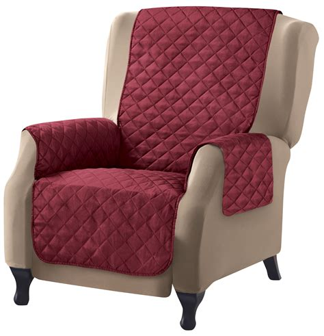 Quilted Recliner Covers Collections Etc Reversible Quilted Furniture Cover Ebay