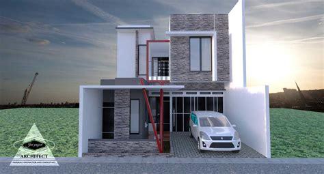 desain depan rumah 2 lantai gambar desain denah rumah minimalis 2 lantai type 36