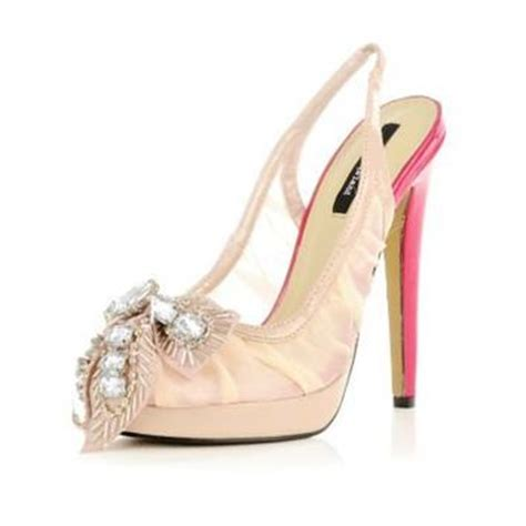 Heels Boots Bow Light Hitam light pink embellished bow sandals from river island