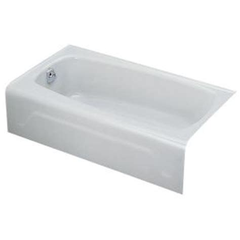 Cast Iron Bathtubs Home Depot by Kohler Seaforth 4 5 Ft Left Drain Soaking Tub In White K