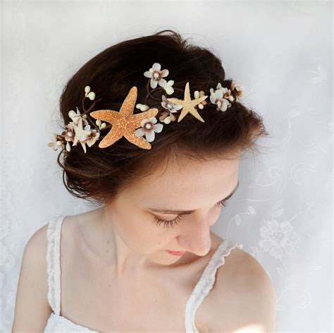 starfish hair accessories by hair comes the bride seashell hair accessory beach wedding starfish head