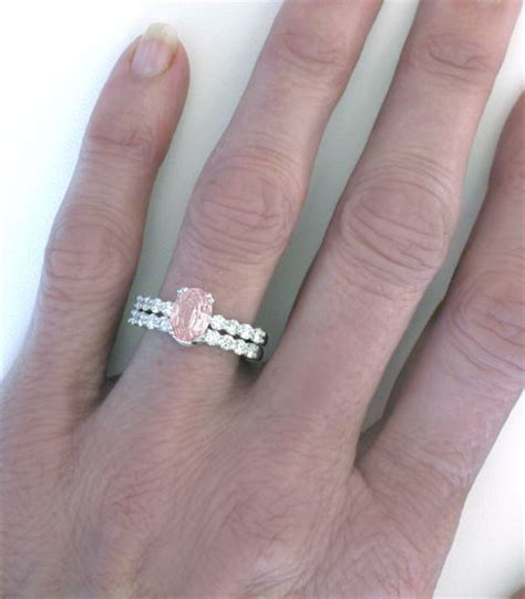 light pink sapphire engagement rings natural light pink sapphire engagement ring in 14k white