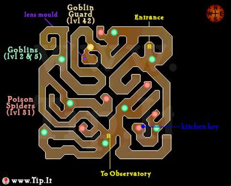 Observatory Dungeon Map | observatory dungeon pages tip it runescape help