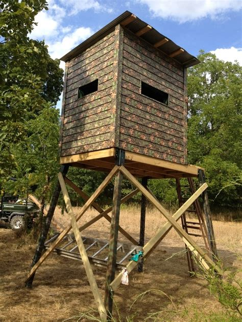 Elevated Blind diy elevated box blind for deer