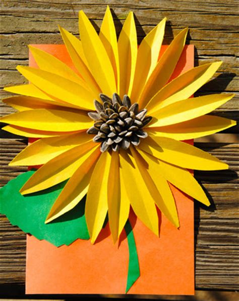 Sunflower Paper Craft - 30 stunning sunflower crafts ted s