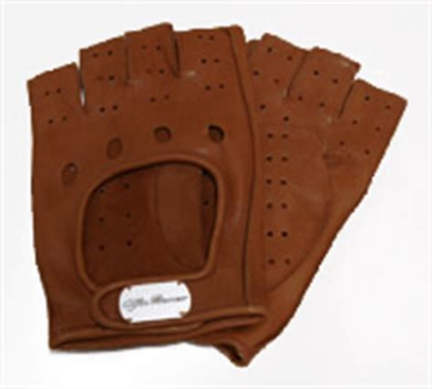 alfa romeo leather driving gloves half white
