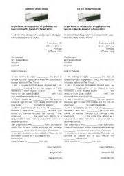exercise letter of application exercises a formal letter of application