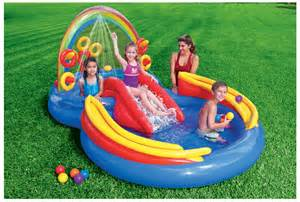outdoor toys for rainbow ring water slide