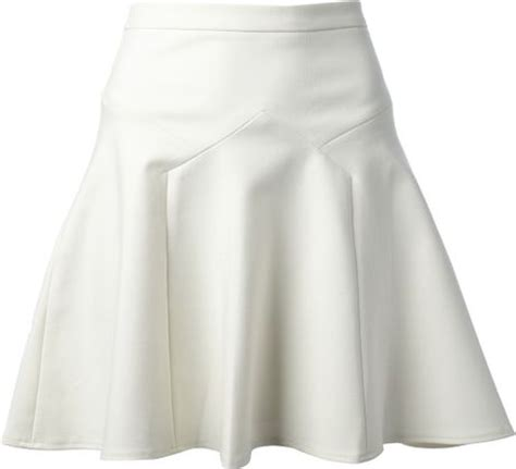 tibi pleated a line skirt in white lyst