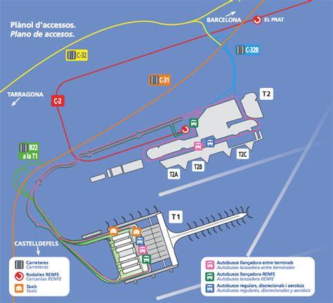 Barcelona Car Rental Map Bcn Airport Map Bcn Terminal Map