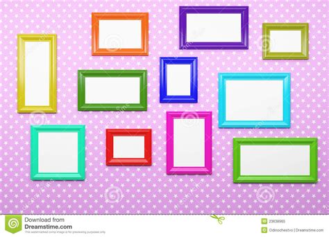 Contemporary Modern Home Plans multicolor picture frames royalty free stock photo image