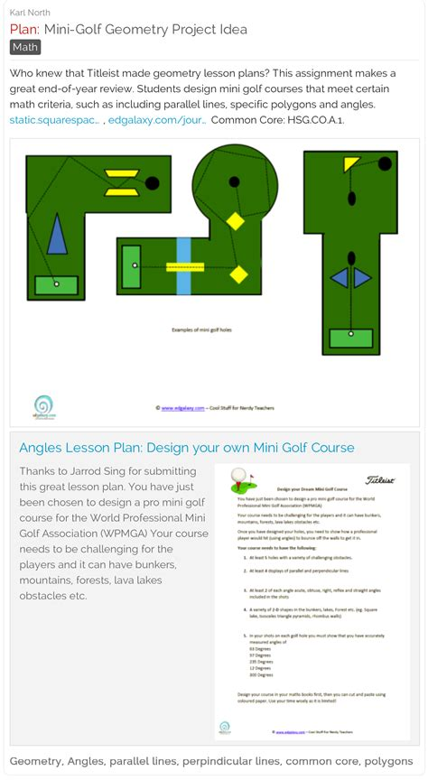 design your dream mini golf course mini golf geometry project titleist has made a great