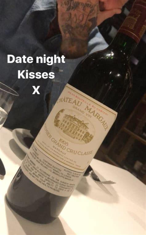 victoria  david beckham drink  bottles   wine