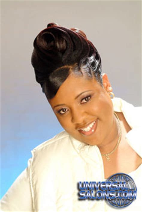 black hairstyles ridges updo hairstyle with ridges from garnett jett