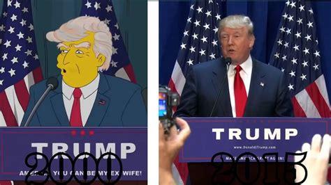 donald trump simpsons the simpsons predicted a donald trump presidency doovi