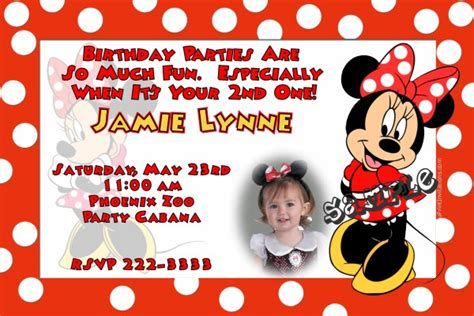 page plus minnie mouse greeting card template minnie mouse birthday birthday invitations