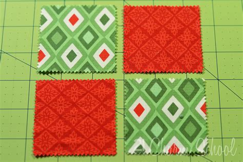 tutorial how to make a four patch quilt block