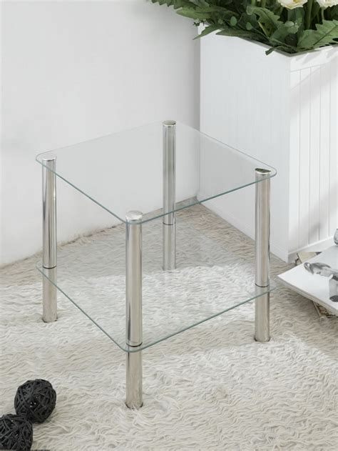bathroom table stand 2 tier square glass stand coffee table bathroom
