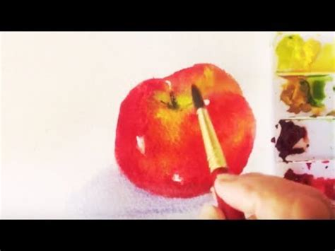 watercolor tutorial apple red apple watercolor tutorial how to paint an apple under