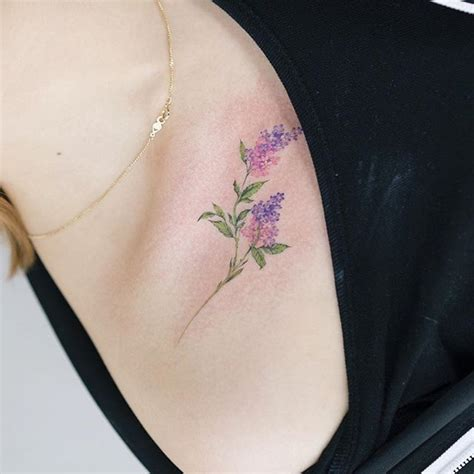25 best ideas about lilac tattoo on pinterest lavender