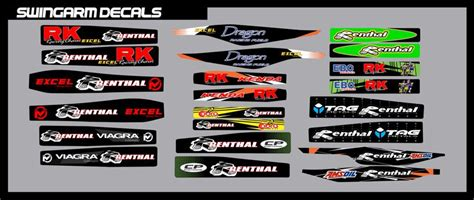 swing arm decals rusk racing custom motocross graphics and decals thick