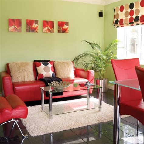 Red And Green Living Room | inspiring ideas colourful living rooms