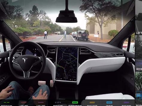Self Driving Car Tesla Tesla Releases Demonstrating What Self Driving Cars