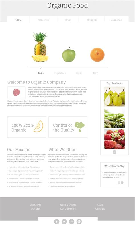 html5 newsletter template nutrition free html template free templates