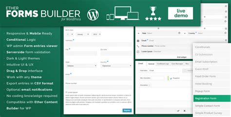 Ether Forms Builder Wordpress Plugin By Onether Codecanyon Template Builder Plugin