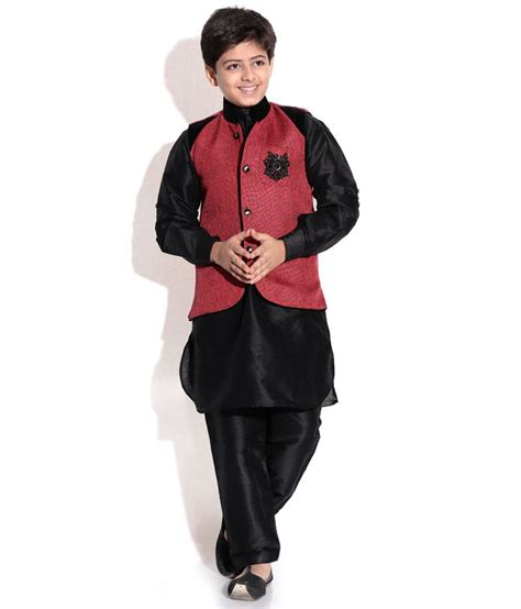 riwaaz cream mehroon color kurta pajama set with jacket riwaaz mehroon black color kurta pajama set with jacket