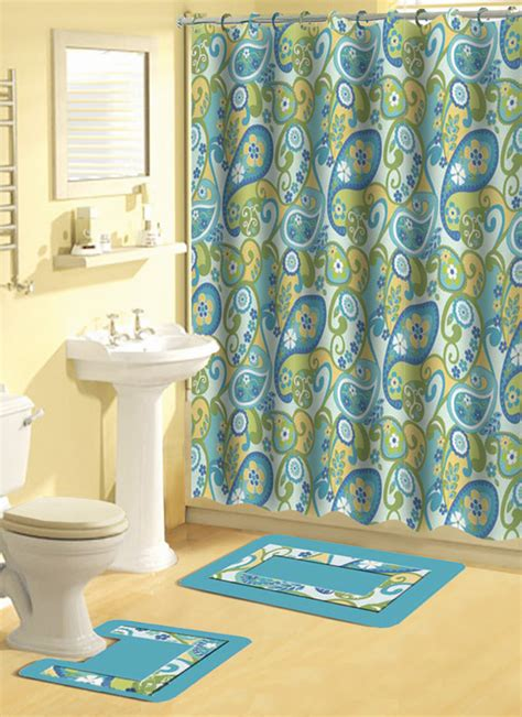 Shower Curtain Sets by Home Dynamix Bath Boutique Shower Curtain And Bath Rug Set