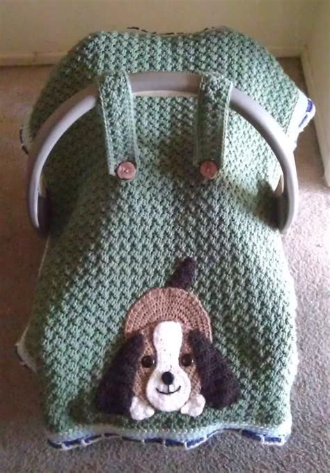 Pattern St Roller   crochet a car seat blanket or take along cover for baby